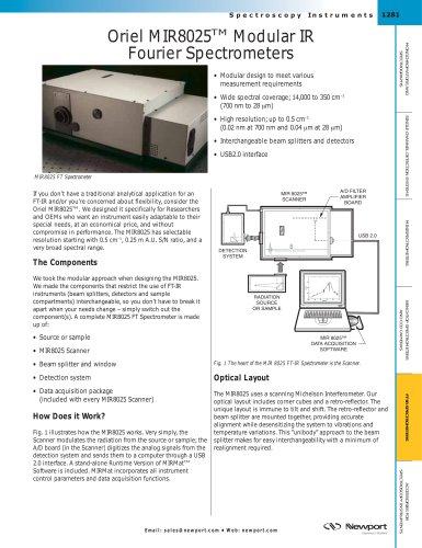 Oriel MIR8025™ Modular IR Fourier Spectrometers