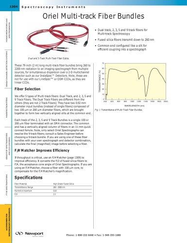 Oriel Multi-track Fiber Bundles