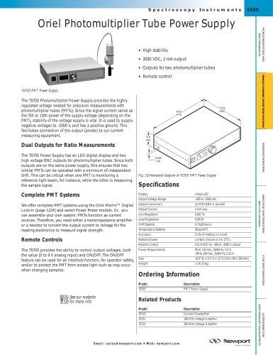 Oriel Photomultiplier Tube Power Supply