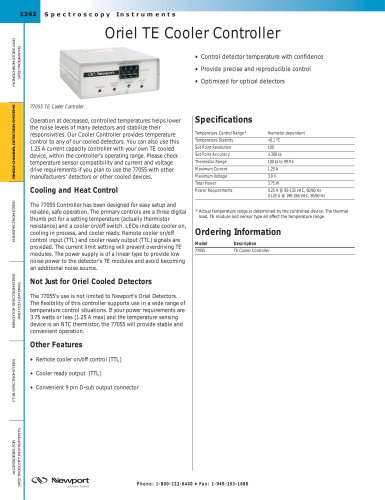 Oriel TE Cooler Controller