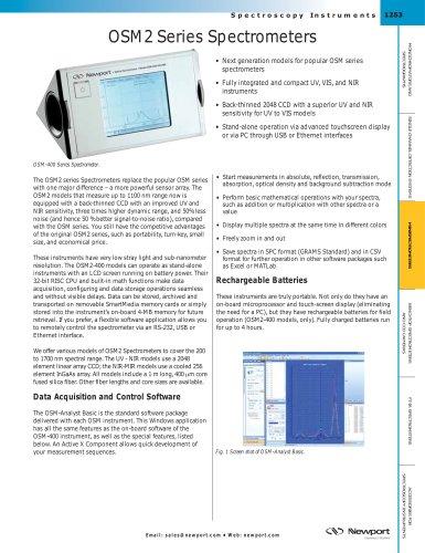 OSM2 Series Spectrometers