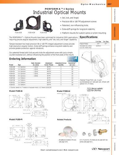 PERFORMA™-i Series Set-&-Lock Industrial Optic and Platform Mounts
