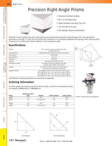 Precision Right-Angle Prisms
