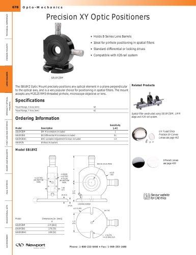 Precision XY Optic Positioners