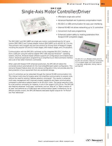 SMC100 Single-Axis Motor Controller/Driver
