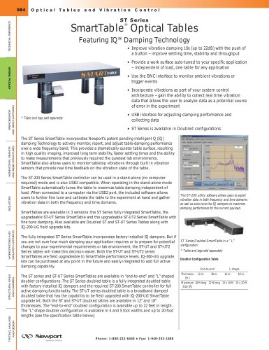 ST Series SmartTable® Optical Tables featuring IQ® Damping Technology