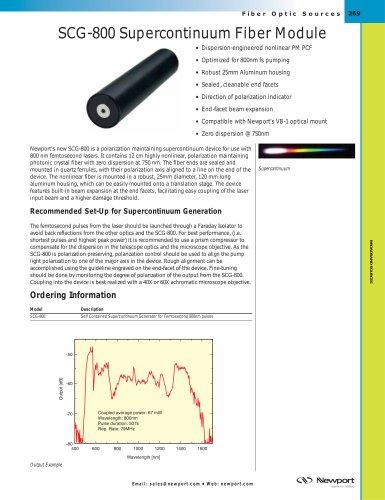 Supercontinuum Generation Fiber Devices