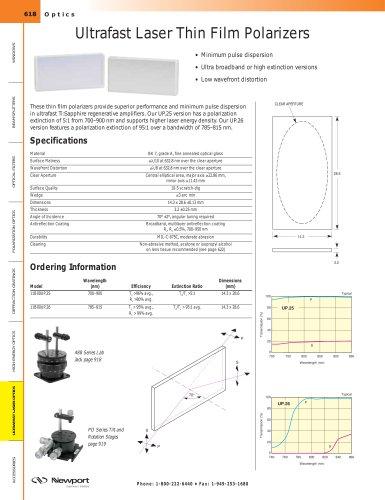 Ultrafast Laser Thin Film Polarizers