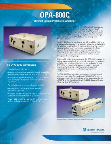 Ultrafast Optical Parametric Amplifier- OPA-800C