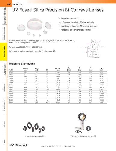 UV Fused Silica Precision Bi-Concave Lenses