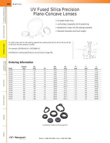 UV Fused Silica Precision Plano-Concave Lenses