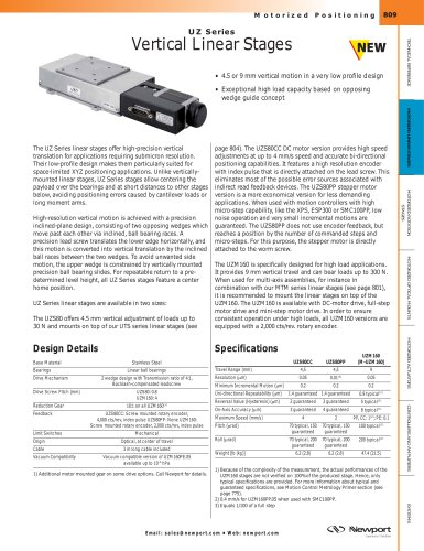 UZ Series Vertical Linear Stages