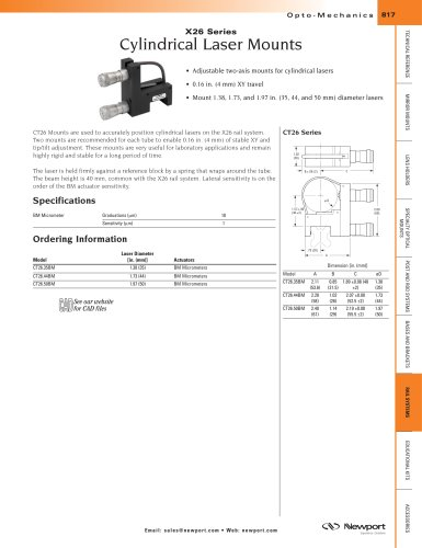 X26 Series Cylindrical Laser Mounts
