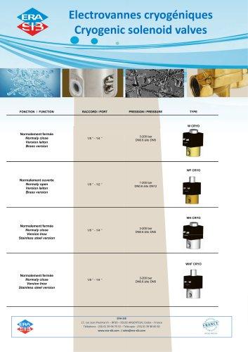 Cryogenic solenoid valves