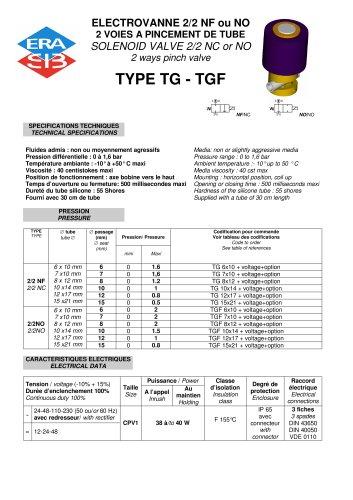Electric pinch valve datasheet