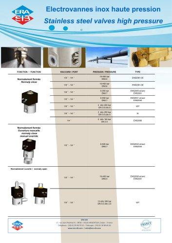Stainless steel valves high pressure