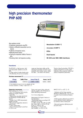 Accuracy Thermometer  PHP 602
