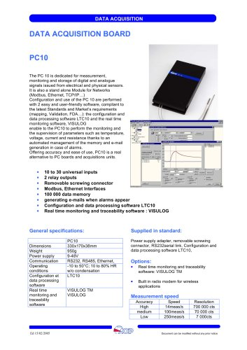 Acquisition module for networks  PC 10