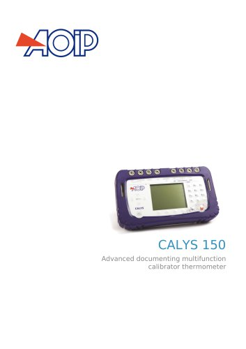 CALYS 150 Advanced documenting multifunction calibrator thermometer