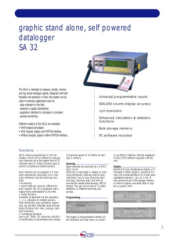 Data Acquisition System  SA 32
