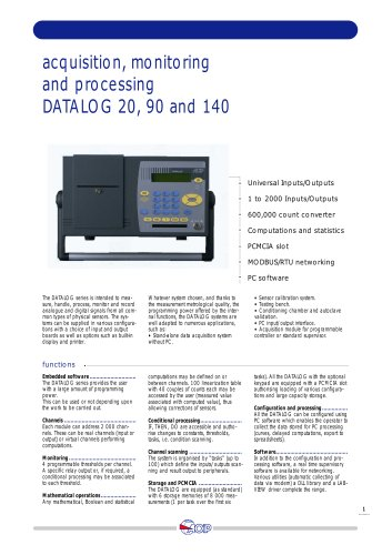 Data Acquisition Systems  DATALOG