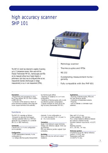 High accuracy scanner  SHP 101