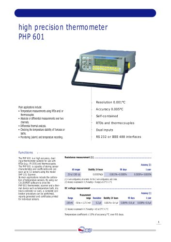 High Accuracy Thermometer  PHP 601