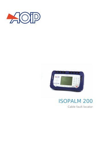 ISOPALM 200 Cable fault locator
