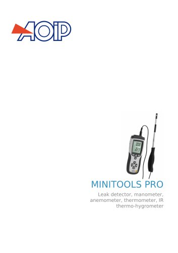 MINITOOLS PRO Leak detector, manometer, anemometer, thermometer, IR thermo-hygrometer