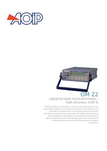 OM 22 benchtop micro-ohmmeter