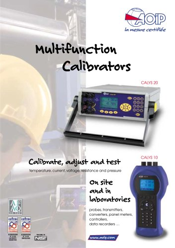 Process multifunction tester calibrator  CALYS 20
