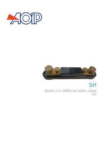 SH - Shunts 1 A / 2000 A en laiton, classe 0,2