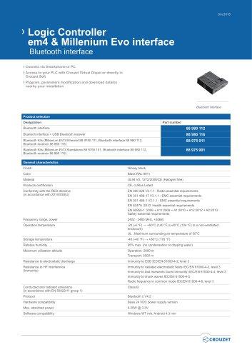 Logic Controller em4 & Millenium Evo interface