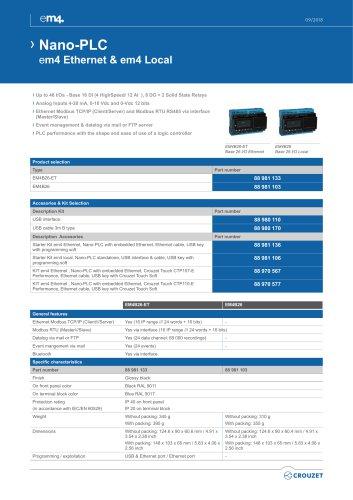 Nano-PLC em4 Ethernet & em4 Local