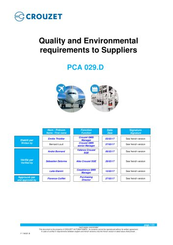 Purchase order conditions - PCA 029.D