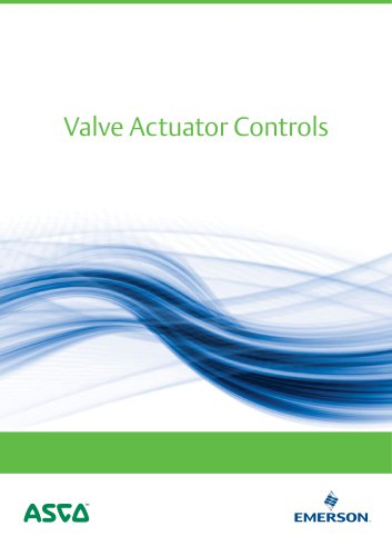 Application Brochure, - Valve Actuator Controls