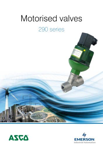 Motorised valves 290 ASCO Numatics