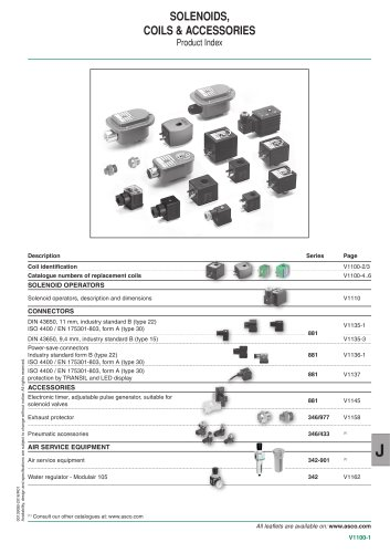 SOLENOIDS, COILS & ACCESSORIES
