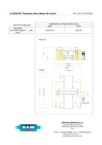 Compact, vertical, CNC contour cutting machine for foam - VCR HT