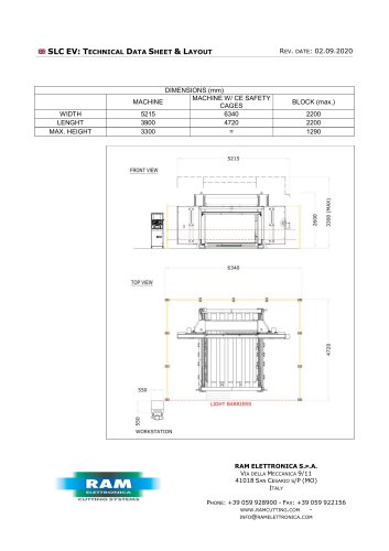 Endless band-knife, horizontal, foam contour cutting machine - SLC EV