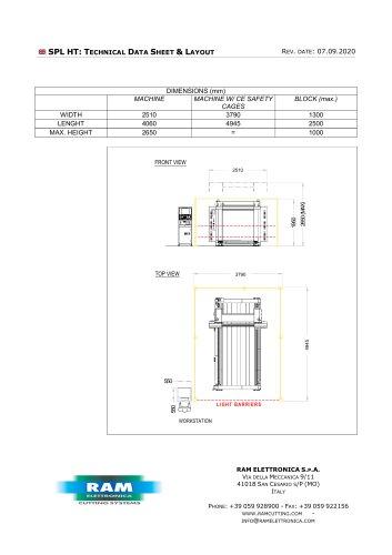Oscillating blade, compact contour cutting machine - SPL HT