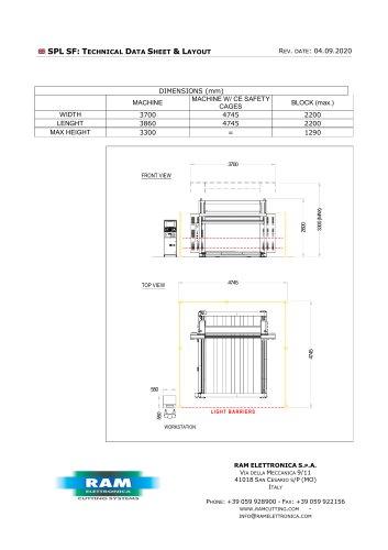 Oscillating blade, horizontal contour cutting machine - SPL SF