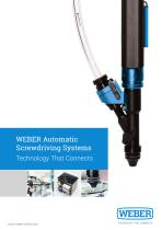 Weber Automatic Screwdriving Systems