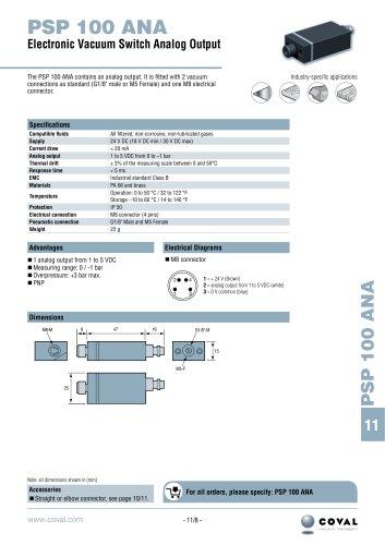Electronic Vacuum Switch Analogue Output, PSP100ANA