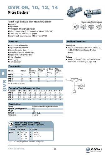 Heavy-Duty In-Line Ejectors, GVR Series