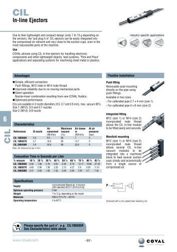 In-line ejectors, CIL