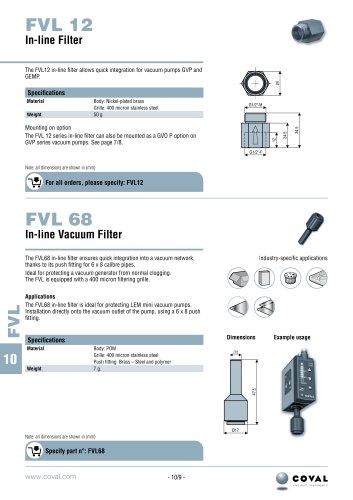 In-Line Vacuum Filters, FVL12 - FVL68