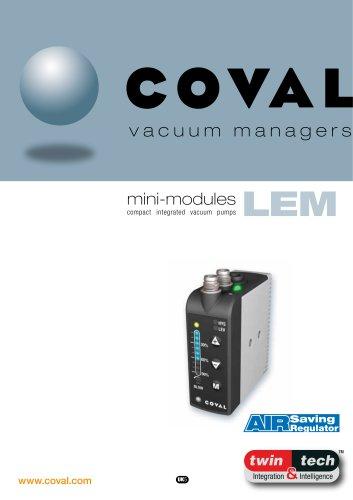 Integrated Mini-Vacuum Pumps With ASR (Air Saving Regulator), LEM Series