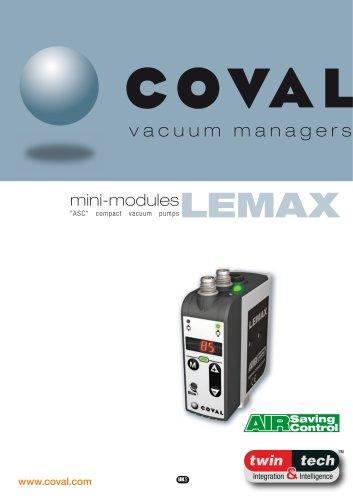 """Integrated Mini-Vacuum Pumps With """"ASC"""" (Air Saving Control), LEMAX Series"""