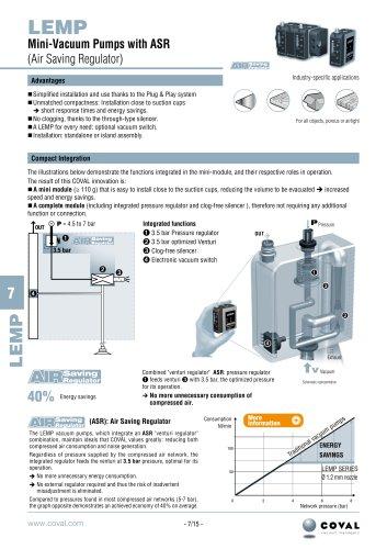 Mini-Vacuum Pumps With ASR, LEMP Series